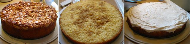 עוגת עקיצת הדבורה - שלבים בחיתוך העוגה