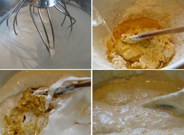 עוגת עקיצת הדבורה - הכנת הבלילה