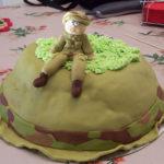 עוגה מפוסלת ראשונה לקראת גיוס