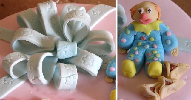 עוגת ליצן, פורים ויום הולדת מבצק סוכר