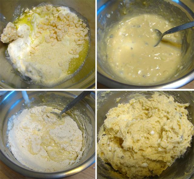בצק לחמניות גבינה