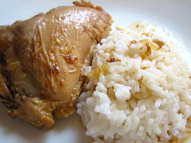 צלי עוף עם אורז