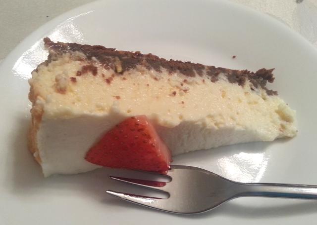 עוגת גבינה אפויה בניחוח לימוני