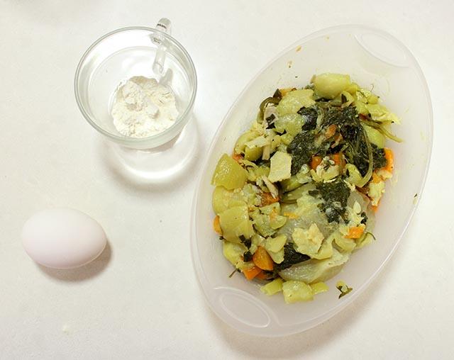 מצרכים ללביבות ירקות