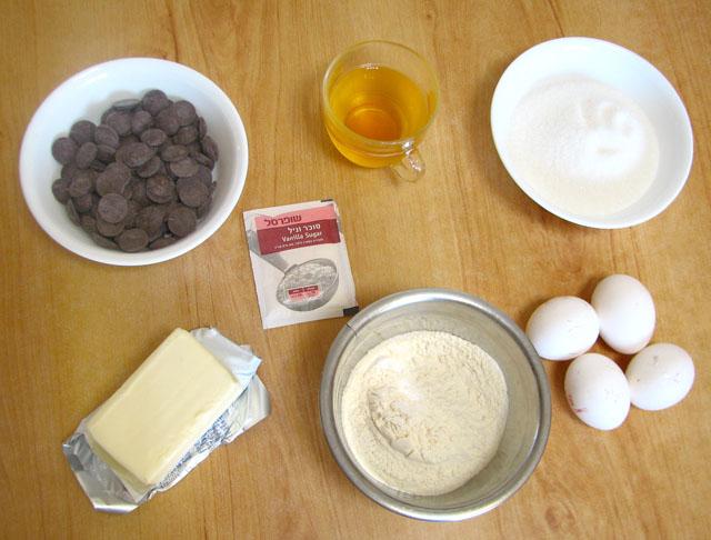 מצרכים לעוגת שוקולד