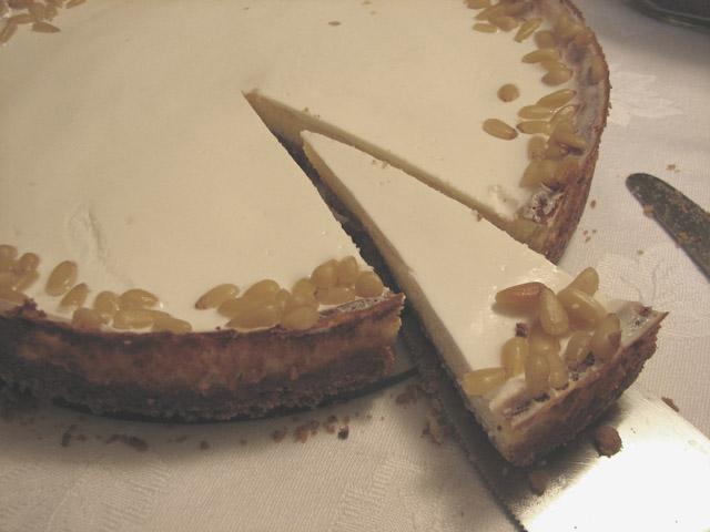 עוגת ריקוטה וצנוברים