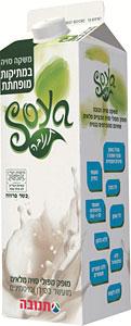 חלב סויה טרי במתיקות מופחתת של תנובה
