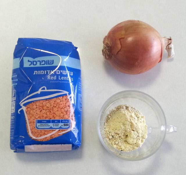 מרק עדשים כתומות ובצקניות