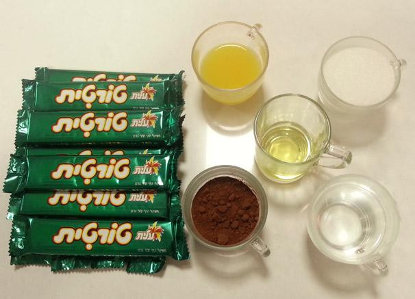 מצרכים לכדורי שוקולד טורטית