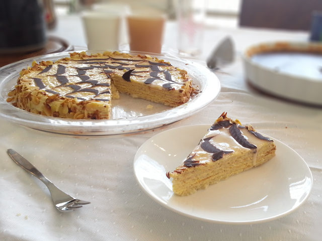 עוגת שכבות שקדים - Esterhazy