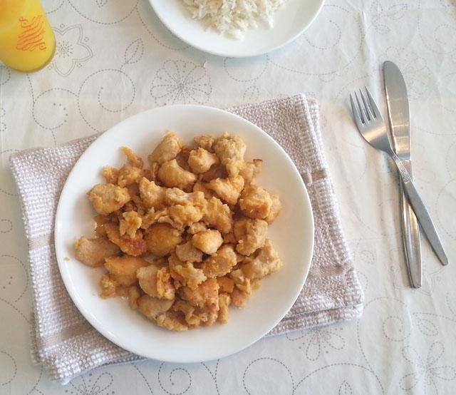 עוף סיני חמוץ מתוק אפוי בתנור
