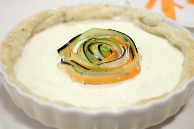 טארט ירקות ספירלה