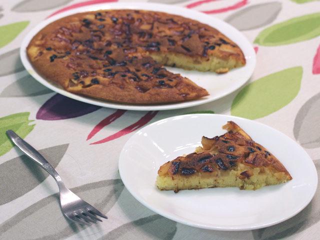 עוגת תפוחים במחבת