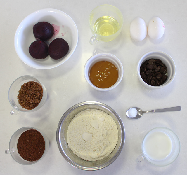 מאפינס סלק ושוקולד