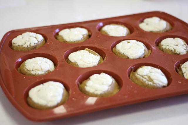 מאפינס דלעת דל שומן בציפוי גבינת שמנת
