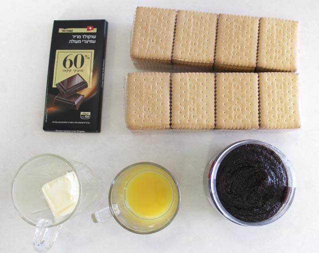מצרכים לכדורי פרג ושוקולד