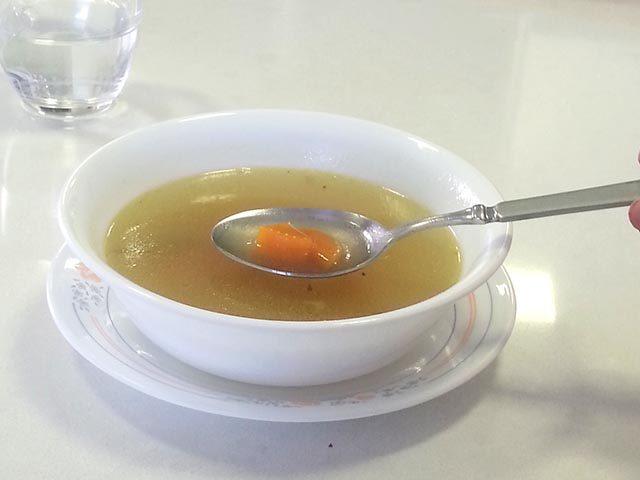 מרק צח (מגרונות הודו או עוף)