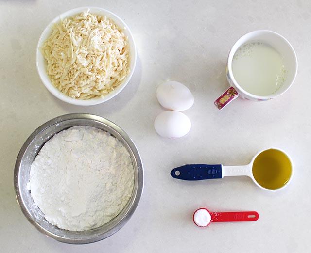 מצרכים ללחמניות גבינה ברזילאיות