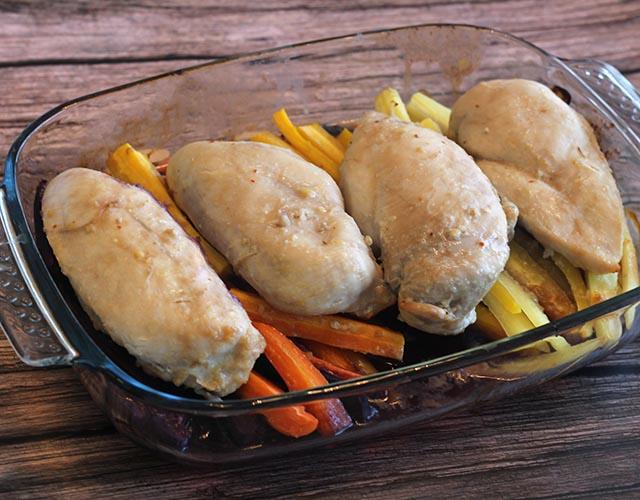 חזה עוף שלם בתנור