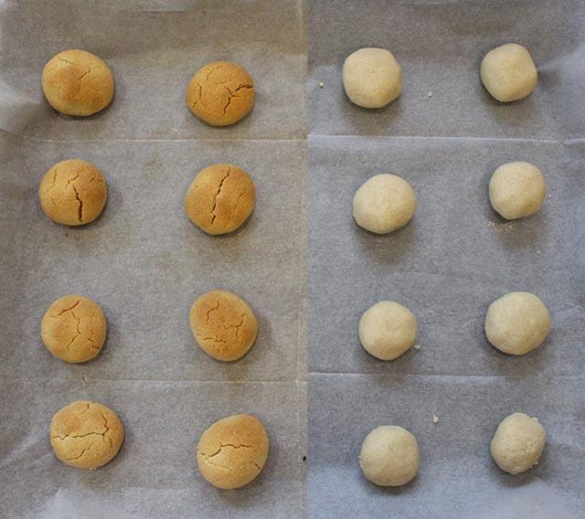 העוגיות לפני ואחרי אפייה