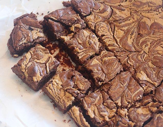 בראוניז שוקולד טחינה